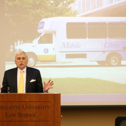 Law Bus Dedication