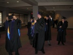Graduates get ready for the processional